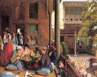 Old Arab Banquet - Egyptian Art - Arabian Art - Handmade Oil Painting On Canvas