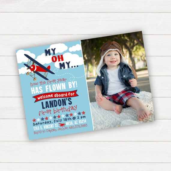 Items Similar To Airplane Birthday Invitation: Airplane Birthday Invitation Airplane Invitation Time Flies