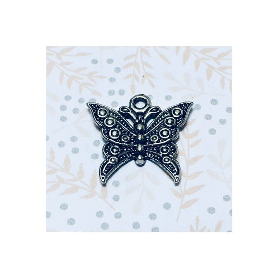 Silver Butterfly Charm 22 x 22 mm