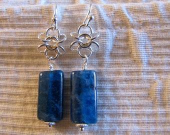 Beautiful deep blue apatite earrings.