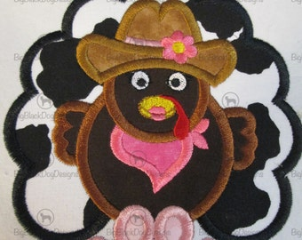 Thanksgiving Cowboy or Cowgirl Iron On Applique