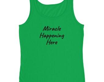 Miracle Happening here Ladies' Tank, mom, mother, mom to be, mother's day, mother's day gift, gift for mom