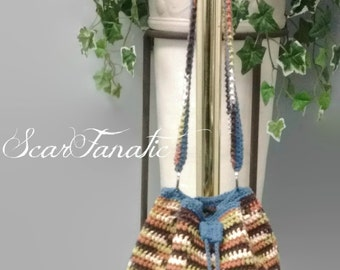 Instant Download Easy Crochet cotton Bag/ Purse/ Carry all pattern /photo tutorial/ permission to sell finished products