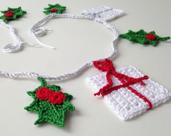 crocheted Christmas garland or Christmas bunting