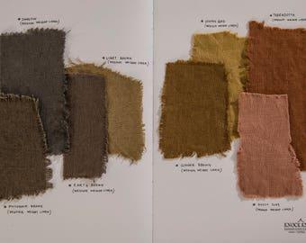 fabric Samples SET 4 | brown & green