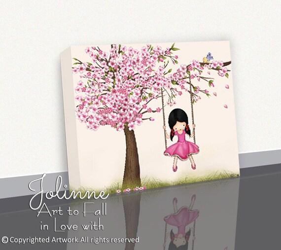 Kirschblüten-Baum-Art Mädchen-Wand-Kunst Kirschblüte