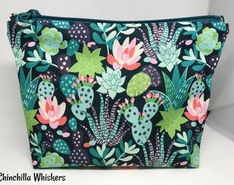 Zippered Waterproof Oxford Cacti Succulent Pouch with DWR Lining