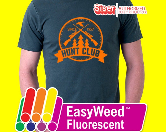 """12"""" x 15"""" / 5-sheets  Siser Easyweed Fluorescent - Heat Transfer Vinyl - HTV - Neon"""