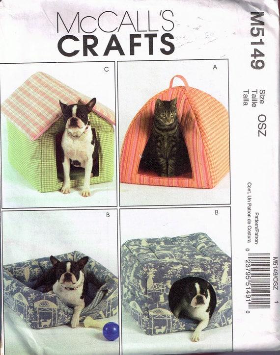 Tierbett Nähen Muster kleiner Hund Bett Schnittmuster Zelt