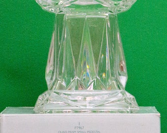 New In Box, Partylite Quad Prism Small Pedestal Candle Holder, P7967