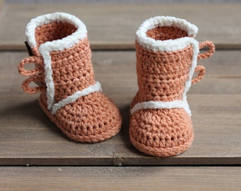 """Crochet Pattern for """"Winter Boots"""", PDF pattern, booties, slippers, baby boy or baby girl, cute snowboot Inventorium"""