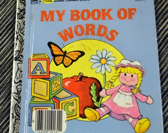 "Vintage Children's Book ""My Book of Words"" by Rebecca Heller First  Little Golden Book"