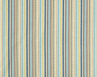 Turquoise Blue Stripe Fabric - Little Flyers by Kelly Panacci and Riley Blake Designs C4572-Blue - Yellow Cotton Fabric Cotton by the Yard