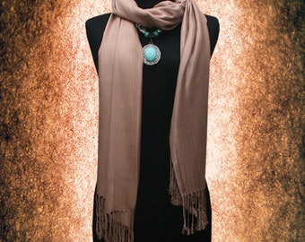 Solid Top quality 100% Pashmina Scarf Shawl Muffler Free size