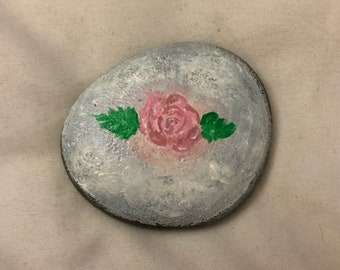 Floral Rock Painting