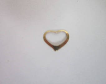 Vintage 14 K Solid Yellow Gold Open Heart Pendant