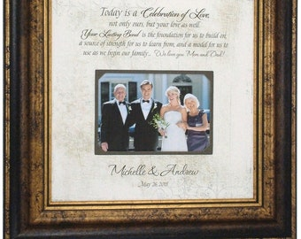 Parent wedding gift, Parent thank you Gift, Parent wedding gift frame, Today is a Celebration, Personalized Wedding Gift For Parents, 16x16