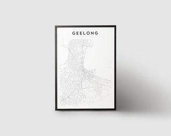 Geelong Map Print