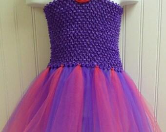Tutu Dress Purple and Hot Pink