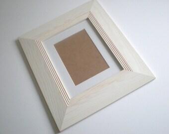 """Photo frame picture frame 10x10"""" picture frame 25cmx25cm wood frame large frame rustic frame wood craft RusticFrameShop"""