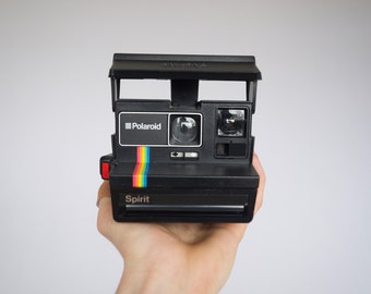 Polaroid Spirit 600 Instant Land Camera in Tested Working Condition: 1990s