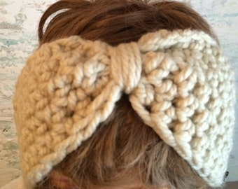 Headband crochet, Crochet earwarmer headband, Turban style Headband  Ear Warmer,Handmade  Turban Ear Warmer