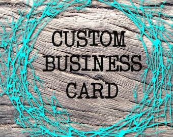 CUSTOM BUSINESS CARD Design,Business Branding,Custom Business Card,Business Accessories,One of a Kind,