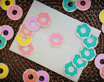 Donut Stickers / Donut Birthday Decorations / Donut Grow Up Decorations / Donut Party Supplies / I Donut Care Decorations / Donut Stationary