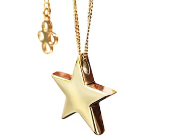 Gold Star Necklace, Solid 9ct Gold, Gold Star Charm Necklace, Minimalist Necklace, Everyday Jewellery