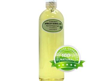 16 OZ Apricot Kernel Oil 100% Pure Organic Cold Pressed