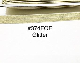 "2 yard - 5/8"" Glitter Gold Fold Over Elastic Headband Hair Accessories Craft Supply"