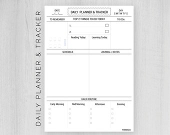 Daily Planner 2018 Printable || Letter/ A4 Size ll pdf/jpeg ll Daily planner ll To-dos,Goals,Schedule