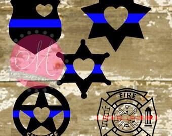 Blue Line Badge- SVG