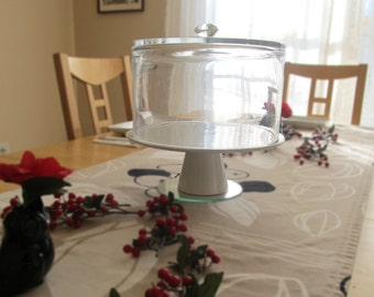 Glass Cake Dome | Unique Glassware | Dessert Cloche | Casual Glassware | Drilled Glass Bowl | Glass Dessert Dome | Party Decor | Kitchenware