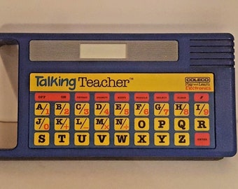 VINTAGE Talking Teacher 1985 Coleco Play Learn Electronics Spelling & Math EUC