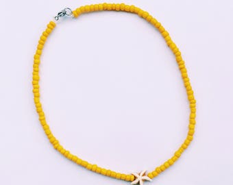 Beaded Choker / Necklace with Star
