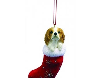Cavalier King Charles Spaniel Santa's Little Pals Dog Christmas Ornament