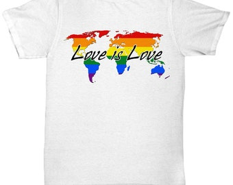 Love is love, worldwide gay pride rainbow, support lgbt / lgbtq