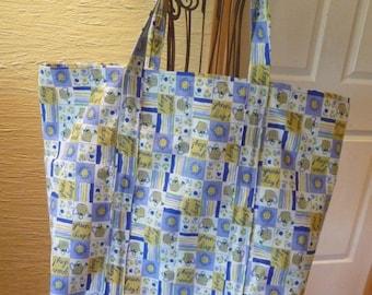 Green Day Tote Bag, Large Tote Bag, Handmade Tote Bag, Grocery Bag, Large Bag, Reusable Bag, Earth Friendly, Unique Bag, Carrying Bag