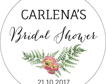 Bridal Shower Stickers, Personalised bridal shower Stickers, Wedding Favour Labels, Names and Date, Bride and Groom Stickers, Kitchen Tea