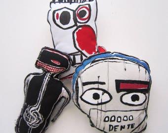 Jean Michel Basquiat funky style urban design graffiti for living room hand painted black American artist urban doll modern wall street art