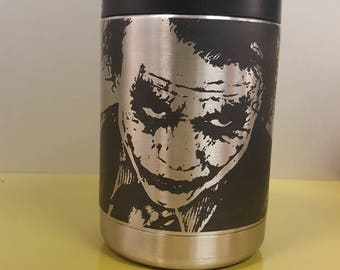 Why So Serious laser engraved yeti