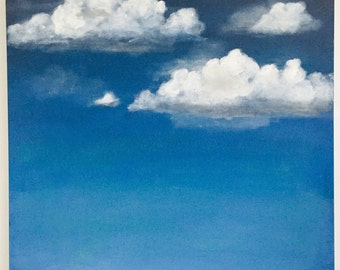 Original Acrylic Painting   Cloud Painting  Cloud Art   Landscape Painting   Painting on Canvas   Wall Art   Sara Beckley Art