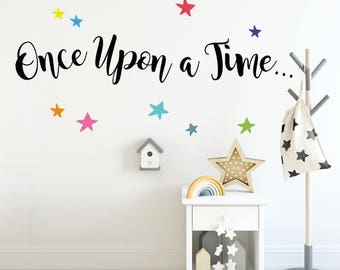 Sticker School Once upon a time with Stars -  Educative Wall Decal Sticker