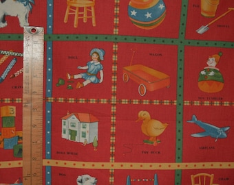 Quilting fabric by the yard Moda retro fabric American Jane novelty fabric quilt fabric Sandy Klop nursery fabric baby Look and Learn