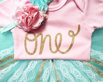 Gold one bodysuit, girls first birthday outfit, cake smash, outfit girl, cake smash props, first birthday, gold one, first birthday shirt
