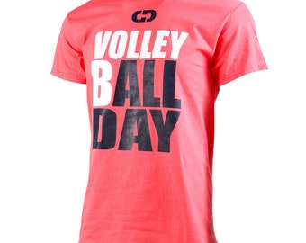 VolleybALL Day,  Short Sleeve Volleyball T-Shirt, Volleyball Shirts, Volleyball Gift - Free Shipping!