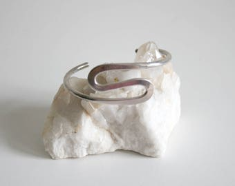 Sterling Mexican Taxco Curve Bracelet
