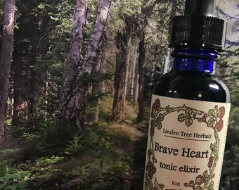 Brave Heart Tonic // Elixir of Hawthorn, Spruce, Pine, Rose, and Reishi // Wildcrafted & Organic Herbal Extract