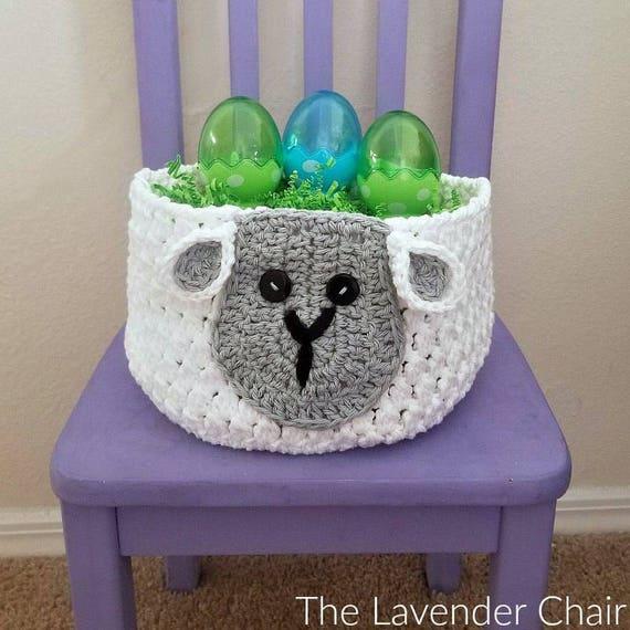 Sam Sheep Easter Basket Crochet Pattern Pdf File Only